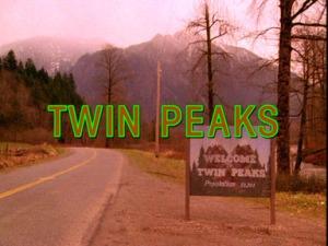 """Het openingsshot in de titelsequentie van iedere aflevering van """"Twin Peaks"""" (1990-1991)"""